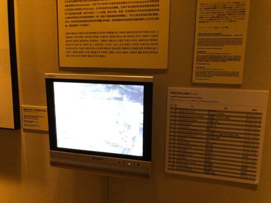 国立映画アーカイブ7F展示室の動画