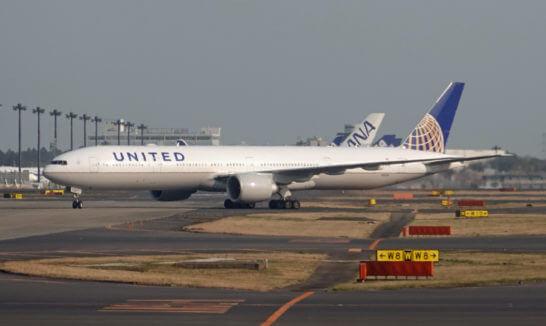 ユナイテッド航空の飛行機