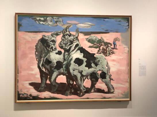 福沢一郎の代表作「牛」