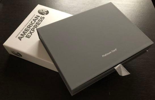 アメックスプラチナとビジネスプラチナのメタルカードが入った箱