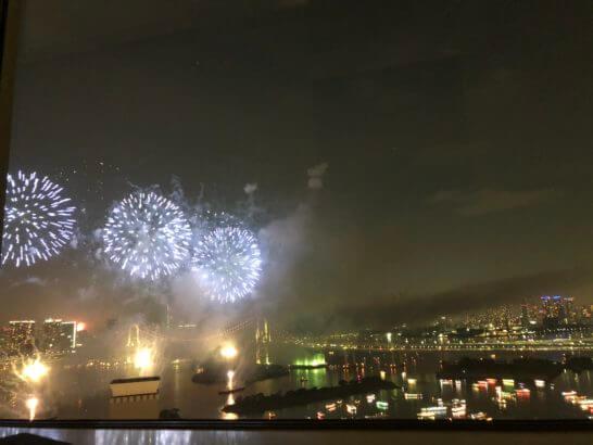 アメックスの東京花火大会