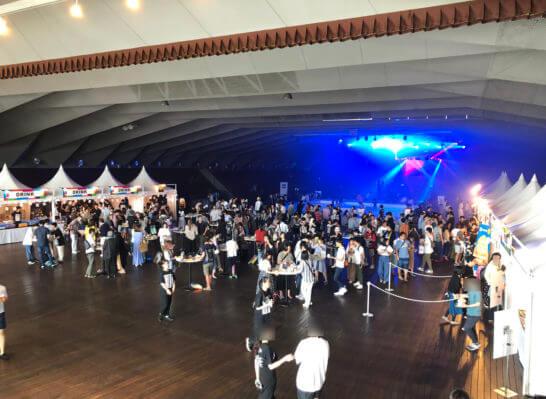アメックス花火大会2019 HANAVIVAのホール