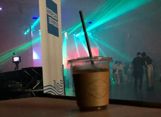 アメックス花火大会2019 HANAVIVAのステージとジンジャーエール