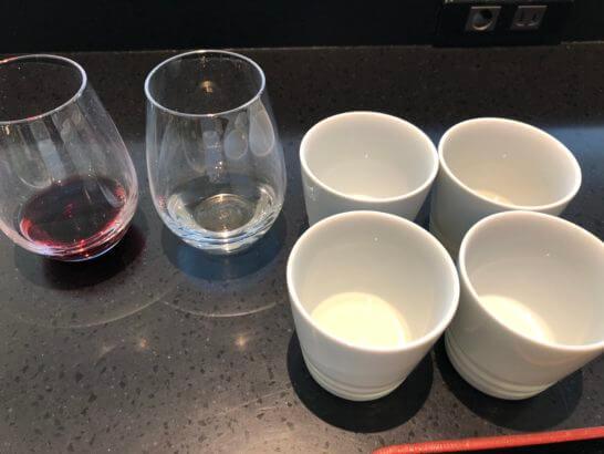 ANAラウンジ(羽田空港国際線)の白ワイン・赤ワイン・日本酒