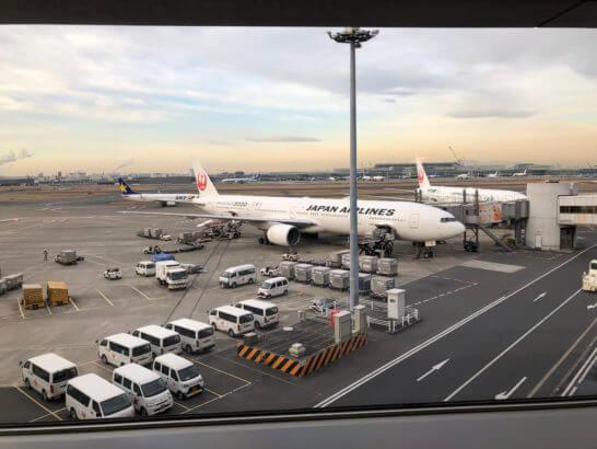 羽田空港ダイヤモンドプレミアラウンジ(南ウイング)からの景色