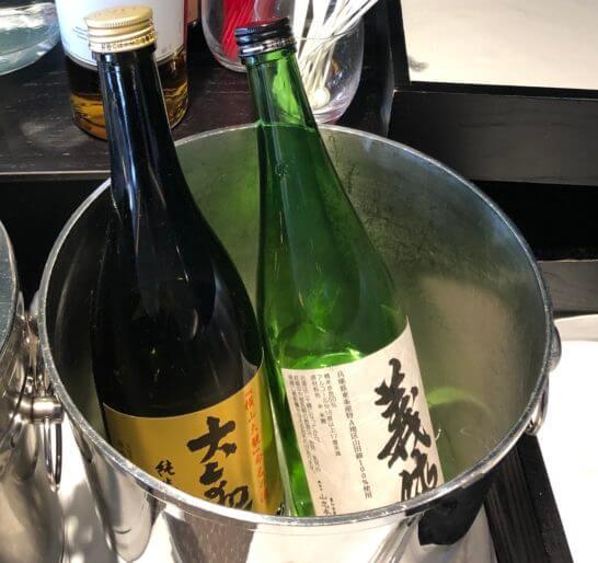 羽田空港ダイヤモンドプレミアラウンジの限定試供品の日本酒