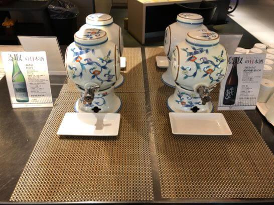 ANAラウンジ(羽田空港国際線)の日本酒 (1)