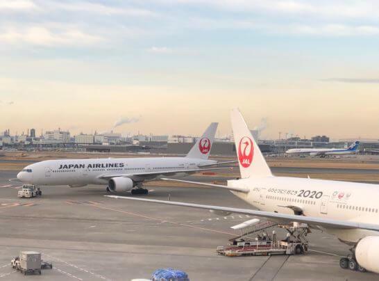 羽田空港ダイヤモンドプレミアラウンジ(南ウイング)からの眺め