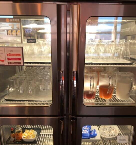 ANAラウンジ(羽田空港国際線)の冷蔵庫