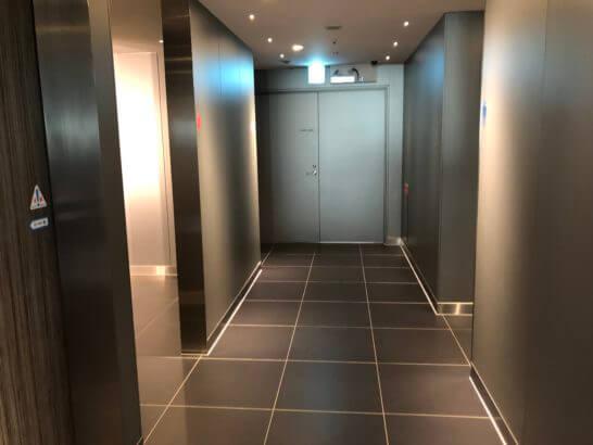 ANAラウンジ(羽田空港国際線)のトイレ入り口