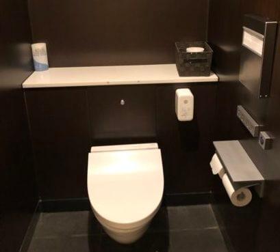 羽田空港国内線サクララウンジのトイレの大便器