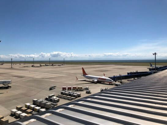 中部国際空港セントレアに駐機する飛行機