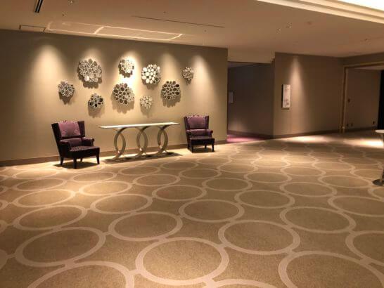 東京マリオットホテルの大宴会場B1フロアのインテリア