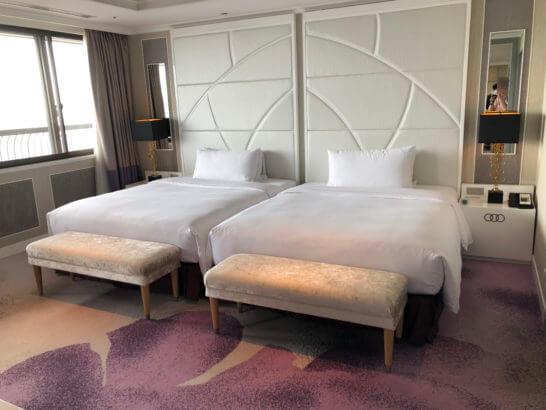 東京マリオットホテルのプレジデンシャルスイートのベッド