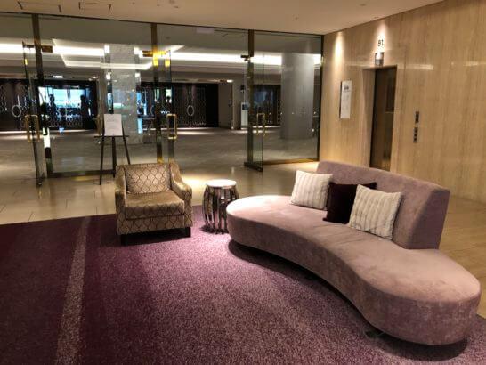 東京マリオットホテルの宴会場の入り口