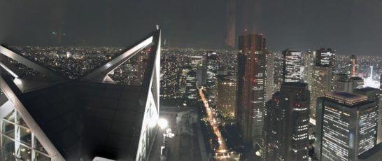 パークハイアット東京の夜景(ニューヨークグリルのフロア)