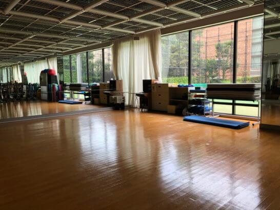 東京マリオットホテルのフィットネスジムのスタジオ