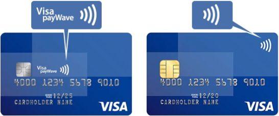 Visaのタッチ決済のマーク