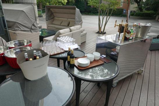 東京マリオットホテルのテラス席