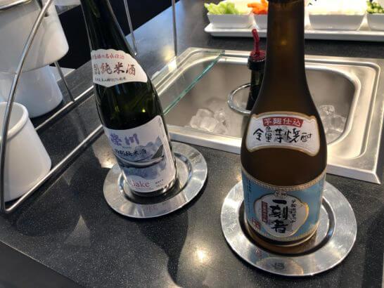 デルタスカイクラブの日本酒と焼酎