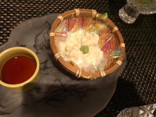 椿山荘の日本料理みゆきの湯葉