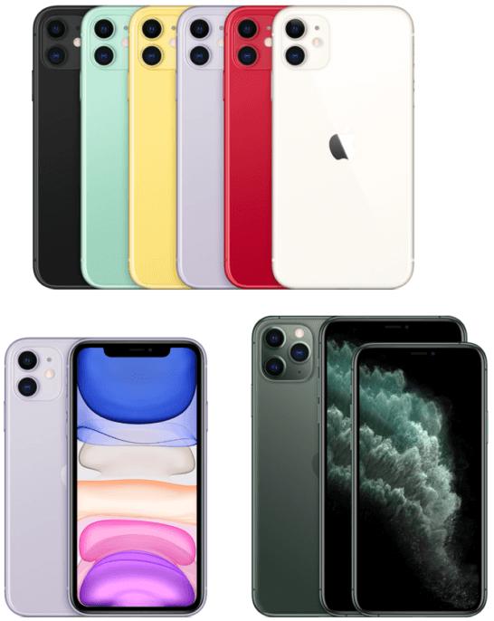 iPhone 11、Pro 、Pro Max