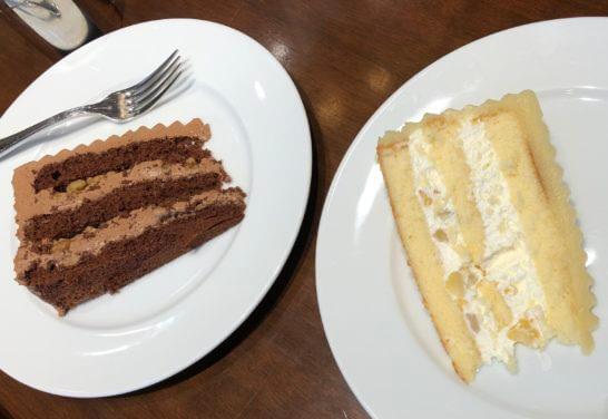 ルミネのカフェのケーキ