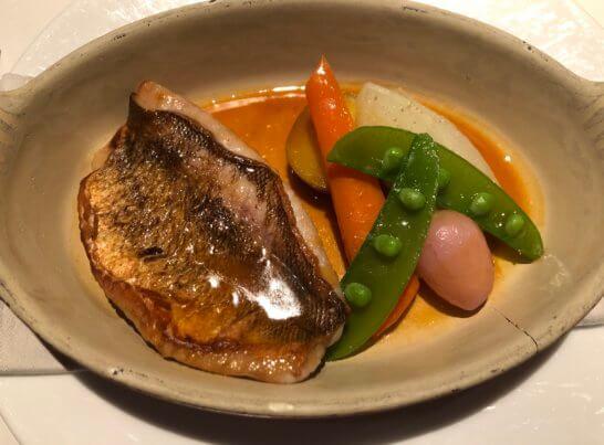 筍メバルのポワレ ブーリッド風 季節の野菜