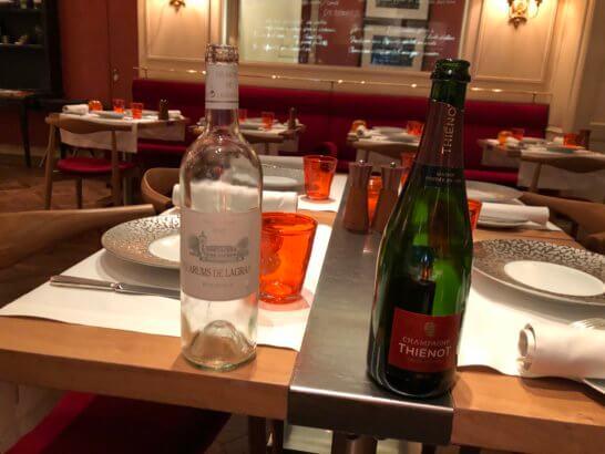 ビストロブノワのワインペアリングのシャンパンと白ワイン