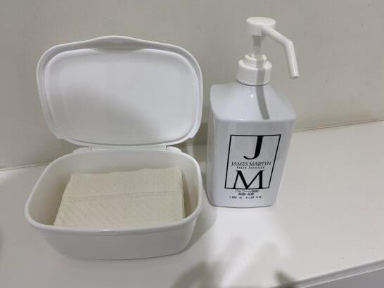 東京離宮 センチュリオンラウンジのトイレアルコール製剤