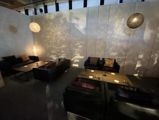 東京離宮 アメックス センチュリオンラウンジのソファー席