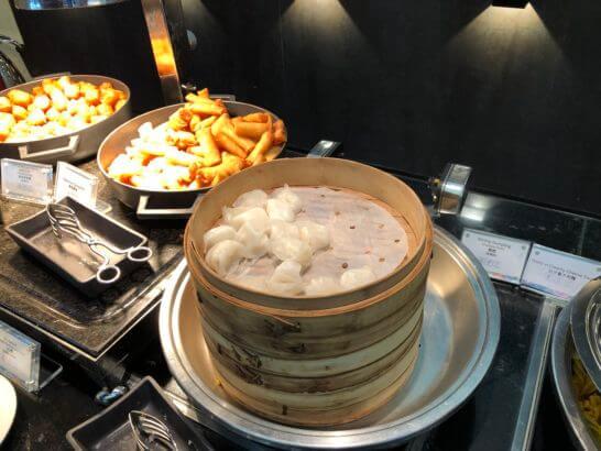 香港国際空港アメックスのセンチュリオンラウンジの点心