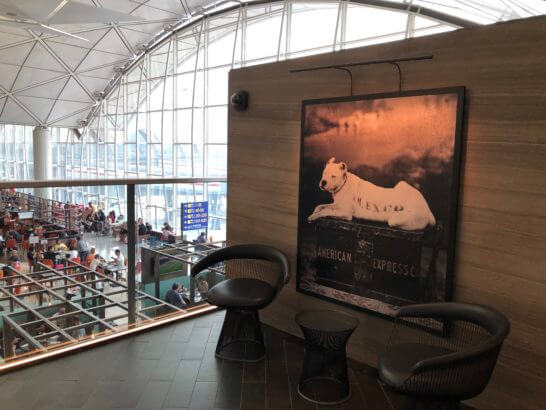 香港アメックスセンチュリオンラウンジの犬の絵