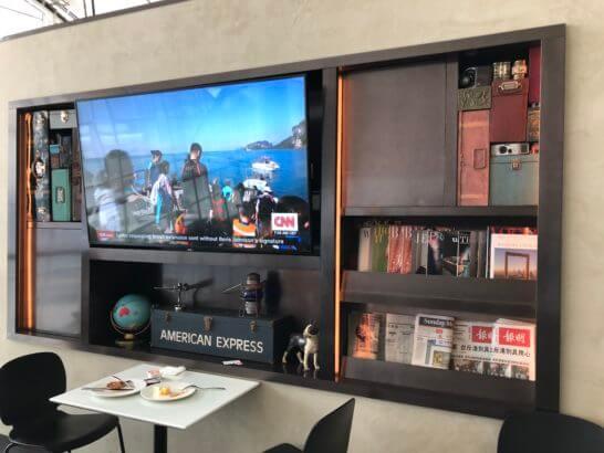 香港センチュリオンラウンジのテレビ・新聞・雑誌・おしゃれなインテリア