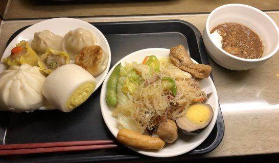 台北松山空港「Airlines VIP Lounge」の食事