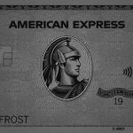 モノトーンにしたアメックスカード