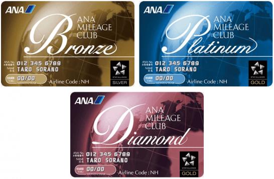 ANAステータス「ブロンズ」「プラチナ」「ダイヤモンド」