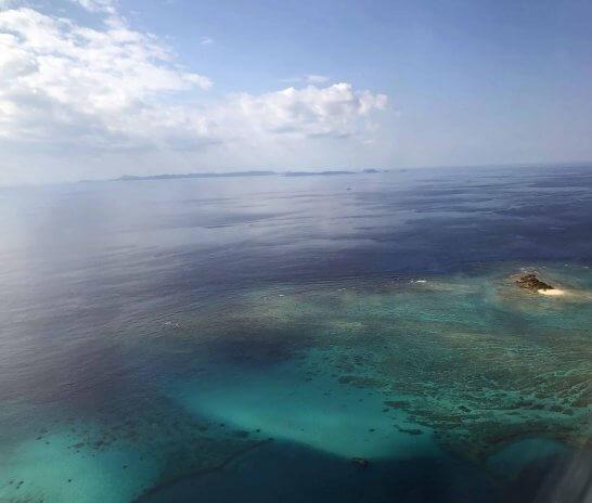 那覇空港近辺の海