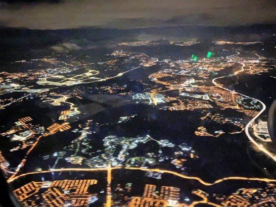 マレーシアのクアラルンプールの夜景