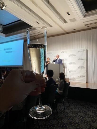 SPGアメックスのスペシャルディナーイベント「Kanazawa Sonoma」の乾杯