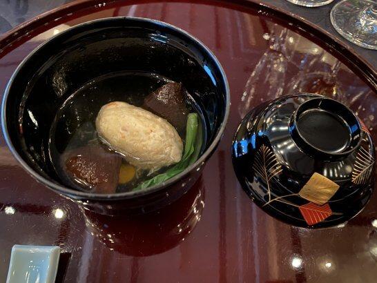 蟹身蒸 椎茸 柚子