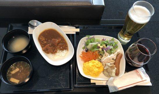 羽田空港国際線ANAラウンジの食事