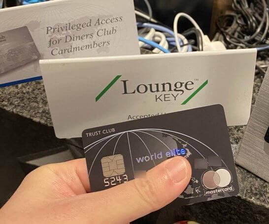 ラウンジキーが使えるという札とダイナースクラブ プレミアムコンパニオンカード