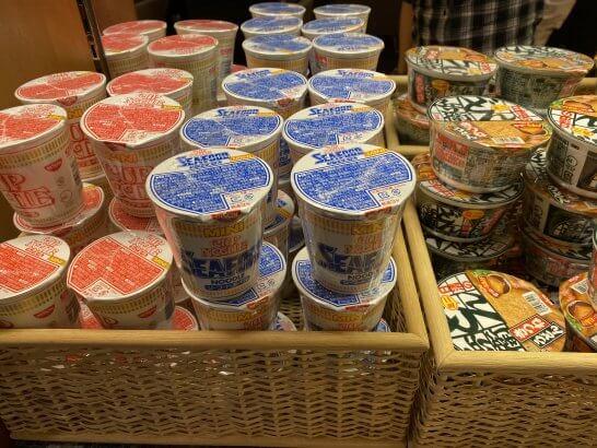 関空KALラウンジのカップ麺