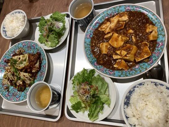 ルミネの中華レストランでの食事