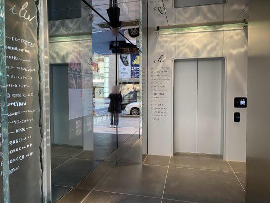 VILLA FOCH GINZAのエレベーター