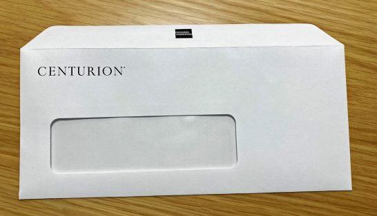 アメックスビジネスセンチュリオンの封筒