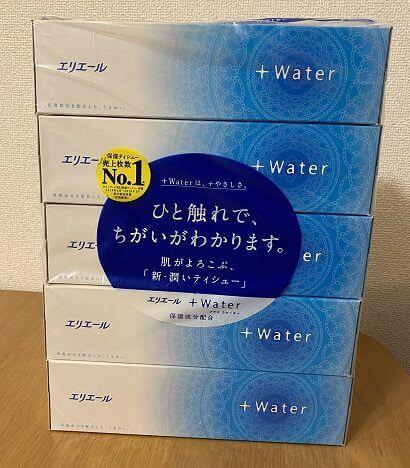 エリエール+Water(ティッシュペーパー)