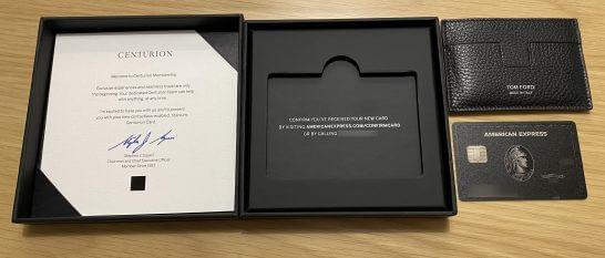 アメックスビジネスセンチュリオンのウェルカムギフトとカード本体