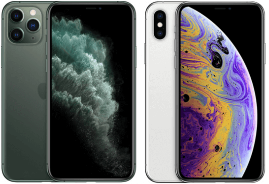 iPhone 11 Pro、iPhone XS